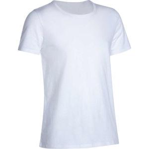 DOMYOS Chlapčenské tričko 100 na cvičenie biele