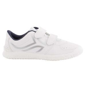ARTENGO Detská tenisová obuv TS100 Grip bielo-modrá